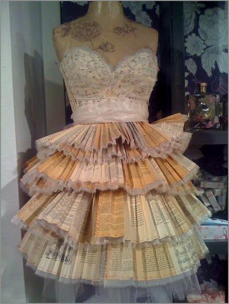 Платья из бумаги своими руками на себя фото